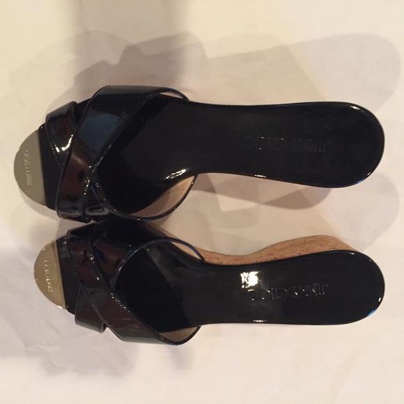 Jimmy Choo Shoes - Jimmy Choo Black Slides Sz 38